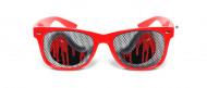 Blutige Augen Halloween-Brille rot-grau