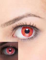 UV Kontaktlinsen Werwolf rot-gelb