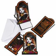 Monster High™ Einladungskarten Karten Set 12-teilig weiss-bunt 7x14cm