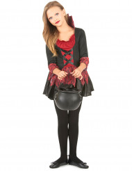 Süße Vampirin Halloween Kinderkostüm rot-schwarz