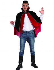 Vampir Umhang mit hohem Kragen Halloween Kostümaccessoire rot-schwarz