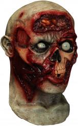 Ekelhafte Zombie-Maske Animiert hautfarben-rot