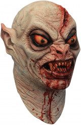 Blutige Vampir-Maske Halloween-Latexmaske haufarbe-rot