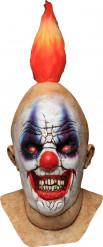 Squancho der Clown Maske Horror Halloween Kostümaccessoire hautfarben-bunt