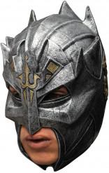 Ritter Maske - Hand bemalt grau