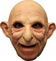 3/4 Latexmaske Alter Mann Maske hautfarben
