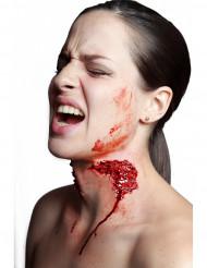 Fleischwunde Biss Latex-Applikation rot-hautfarben