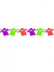 Neonfarbene Gespenster-Girlande Kinderhalloween-Deko bunt 2m