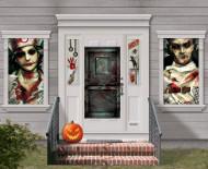 Blutige Zombies Halloween Mega Deko-Poster-Set bunt 33-teilig