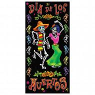 Tag der Toten Türdeko Halloween-Poster bunt 76x152cm