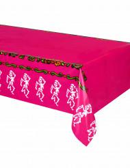 Halloween-Tischdecke Dia de los Muertos pink-bunt 1,3x2,7m