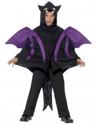 Vampir-Fledermaus Halloween-Kinderkostüm schwarz-lila