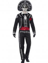 Tag der Toten Sugar Skull Bräutigam Kostüm schwarz-rot