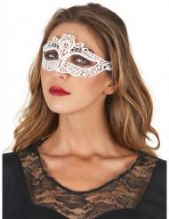 Venezianische Augenmaske Spitze weiss