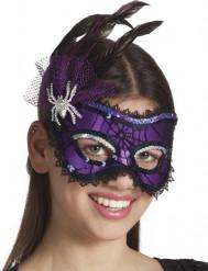 Elegante Violette Augenmaske für Damen Halloween lila-schwarz