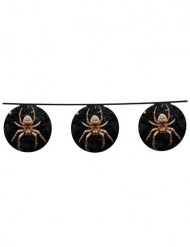 Spinnen Girlande - Halloween schwarz-orange 4 m