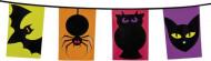 Halloween-Wimpelgirlande Gruseltiere-Girlande bunt 6m