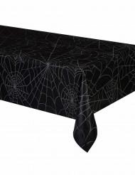 Schwarze Tishdecke mit Spinngeweb aus Plastik schwarz