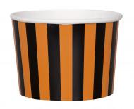 Buffetschalen Halloween Schalen 8 Stück orange-schwarz