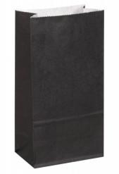 Beschriftbare Papiertüten Halloween Tüten 8 Stück schwarz 15x10cm