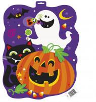 Halloween-Wandschild - Kürbis bunt