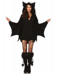 Süsse Fledermaus Halloween Damenkostüm schwarz