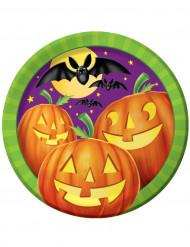 Halloween-Partyteller Kürbisse Halloween-Tischdeko 8 Stück bunt 23cm