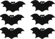 Halloween Dessert-Deko Fledermaus Tischdeko 6 Stück schwarz-weiss 3,5cm