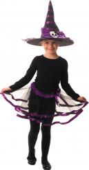 Hexen-Kinderverkleidung Rock und Hut schwarz-lila