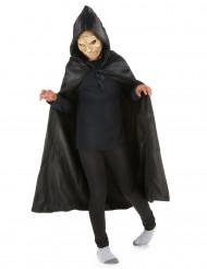 Schwarzer Umhang mit Kapuze schwarz 89cm