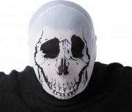 Skelett Maske für Erwachsene Halloween weiss-schwarz