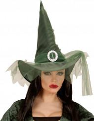 Grüner Hexenhut Halloween für Damen