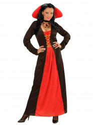 Vampir-Gräfin Damenkostüm schwarz-rot