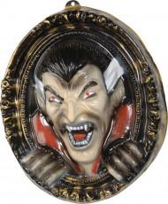 Vampir-Bilderrahmen Halloween Wanddeko  schwarz-beige-rot 37x43cm