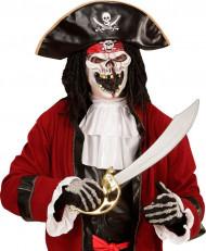 Zombie-Pirat Halloweenmaske bunt