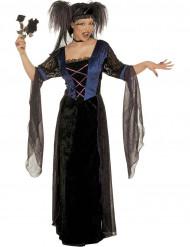 Gothic Hexe Halloween Damenkostüm schwarz-violett