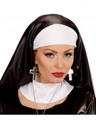 Gothic Ohrringe Kreuz schwarz-silber