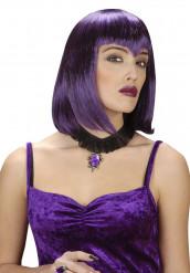 Gothic Halsband mit Amulett lila