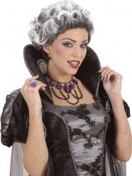 Collier mit Edelsteinen schwarz-lila