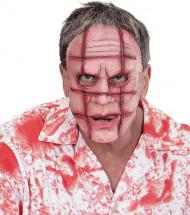 Halloween Maske Ritzer für Erwachsene hautfarben-rot