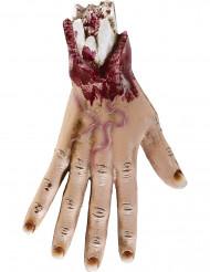 Abgehackte Hand Halloween Party-Deko hautfarben-rot 25cm