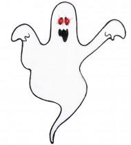 Halloween Wanddeko Geist mit LED-Augen