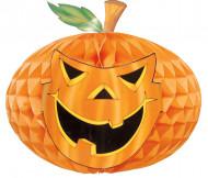 Kürbis Wabe Halloween Party-Deko orange 30cm