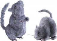 Deko-Ratte Halloween-Dekoration grau