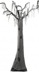 Verwunschener Grusel-Baum Halloween-Hängedeko grau-schwarz 280cm
