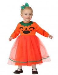 Süsser Kürbis Halloween-Babykostüm Kleinkind orange-schwarz