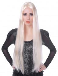 Extralange Damenperücke Hexe blond 75cm