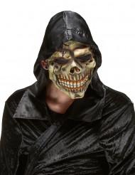 Halloween schaurige Totenkopf-Vollmaske beige-braun