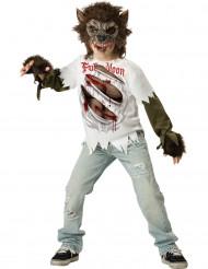 Werwolf Halloween Kostüm für Kinder weiss-braun