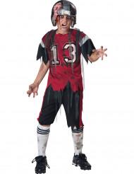 American Football Zombie Halloween-Kinderkostüm rot-weiss-schwarz